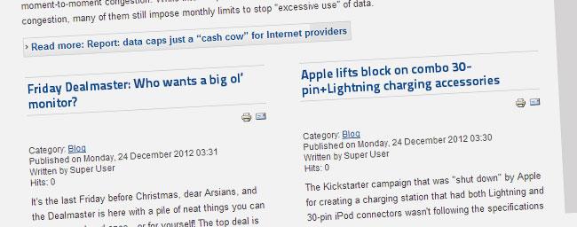 Blogging made easy in Joomla