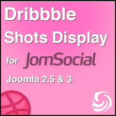 Dribbble Shots Display Addon for JomSocial