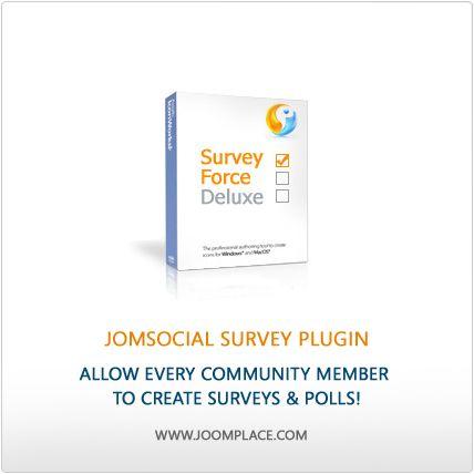 JomSocial Survey Plugin