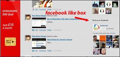 Facebook Like Box For Jomsocial