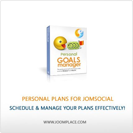 Personal Plans for JomSocial