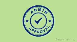 Admin Approval Plugin