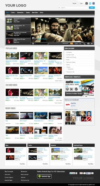 Free Video Gallery Template