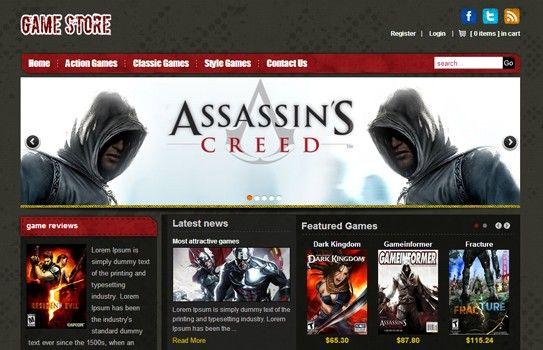 Online Game Template - Customized virtuemart Module