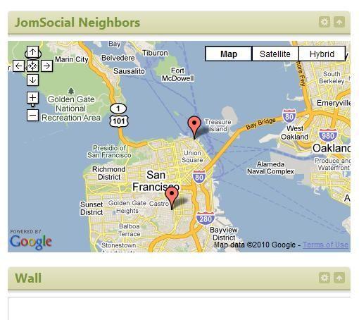 JomSocial Neighbors Map