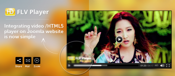 Free Joomla HD FLV Player  3.0