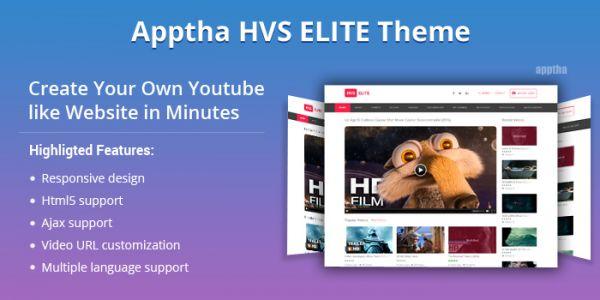 Apptha HVS Elite Joomla Video Theme