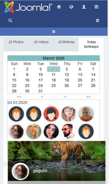 Birthday module for Jomsocial 3.x,4.x