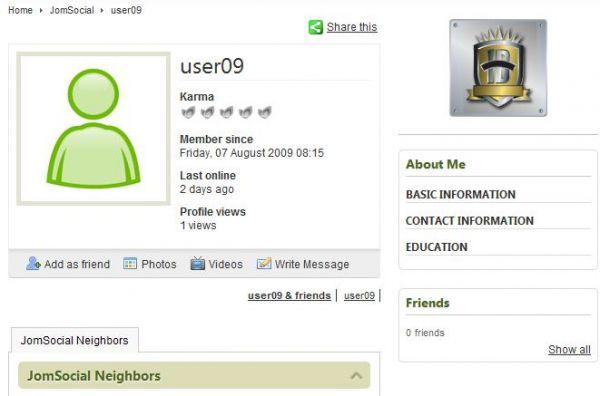 User Profile Badges