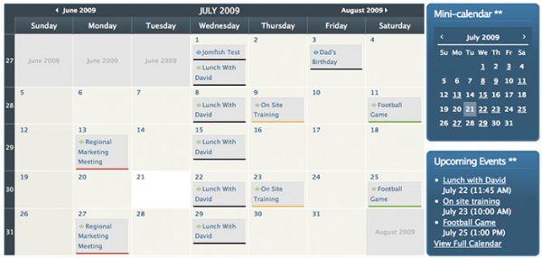 JCal Pro, the Joomla Calendar