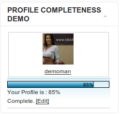 Profile Completeness for JomSocial