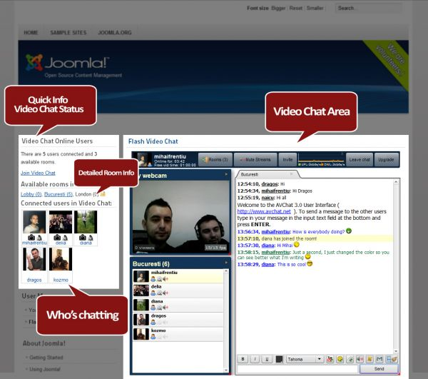 AVChat Video Chat for Joomla! and JomSocial