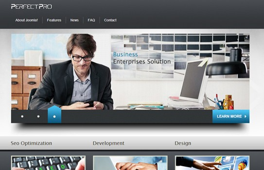 Free joomla business template wajeb Image collections