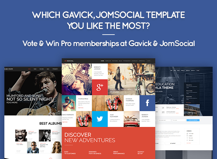 Poll: Which Gavick JomSocial Template you like the most? Vote & Win ...
