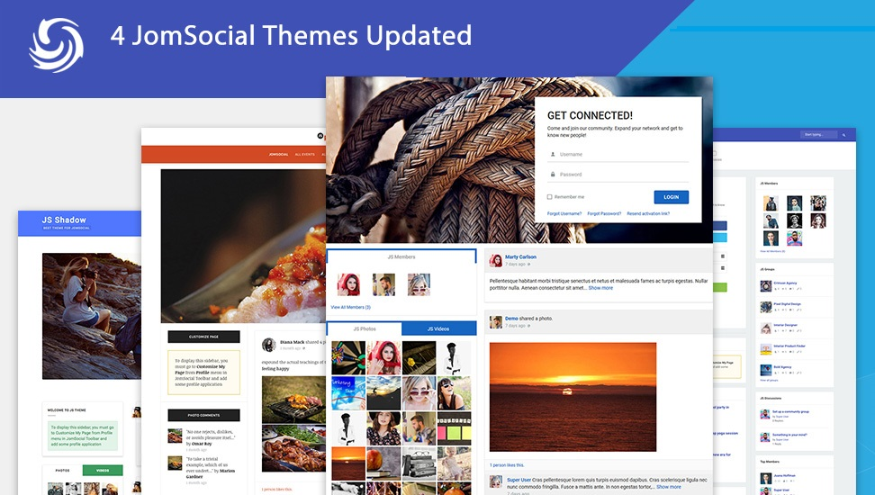 jomsocial Joomla social community extension 4.7.4 released for new emoji and new social login and themes updates
