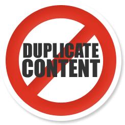 No more duplicate content