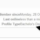 Profile type should link to show other user profile types in here.