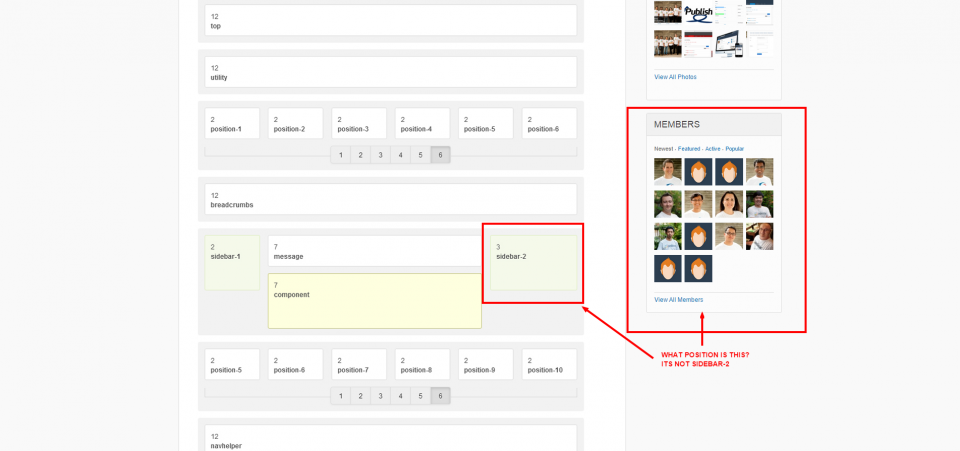 What is this side position in the Socialize Template demo? And is the current template used for this group Socialize?