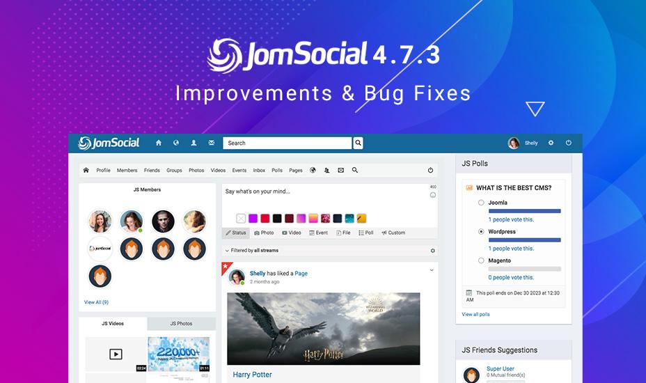 jomsocial 4.7.3 released