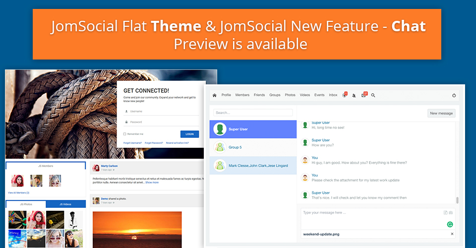 joomsocial preview