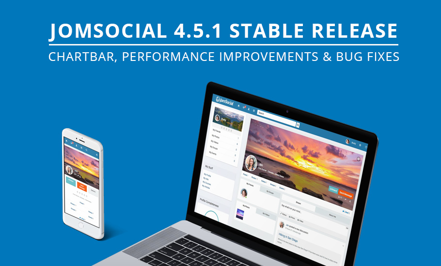 JomSocial 4.5.1 release for performance improvement and  bug fixes