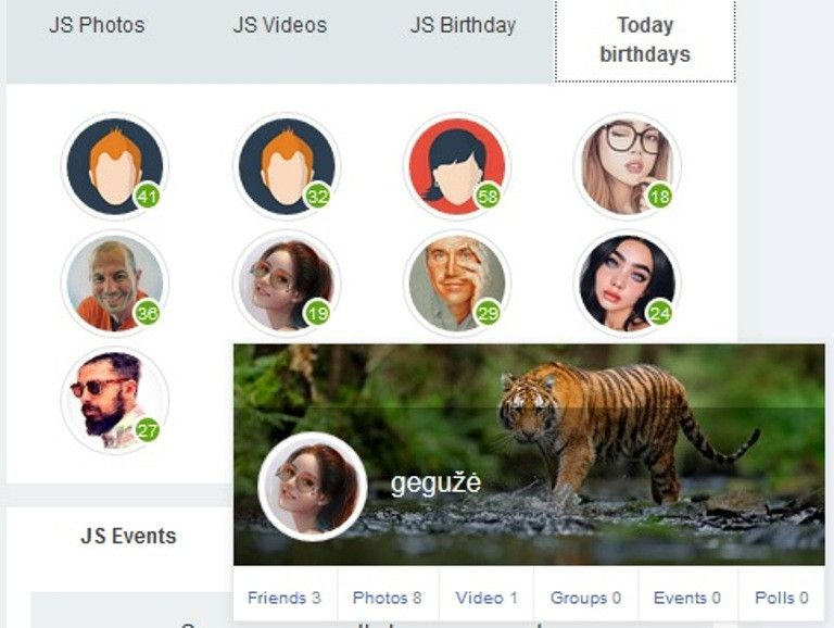 I'm back :) birthday module is updated https://www.jomsocial.com/addons/calendar-a-events/birthday-module-for-jomsocial-3-x-4-x