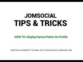 JOMSOCIAL TUTORIAL: Add Karma Points To Profile Page