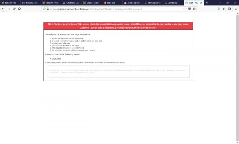 my-adagency-packages/adagencypackage error message - JomSocial Forum